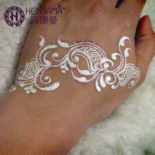 India henna tattoos paste for women lady bride party for White temporary tattoos