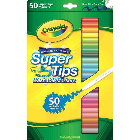 Crayola SuperTip Fine Line Markers, 50 pack - Walmart.com