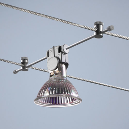 Flexible Cable Fixture : High line matte chrome calo down cable track fixture bruck