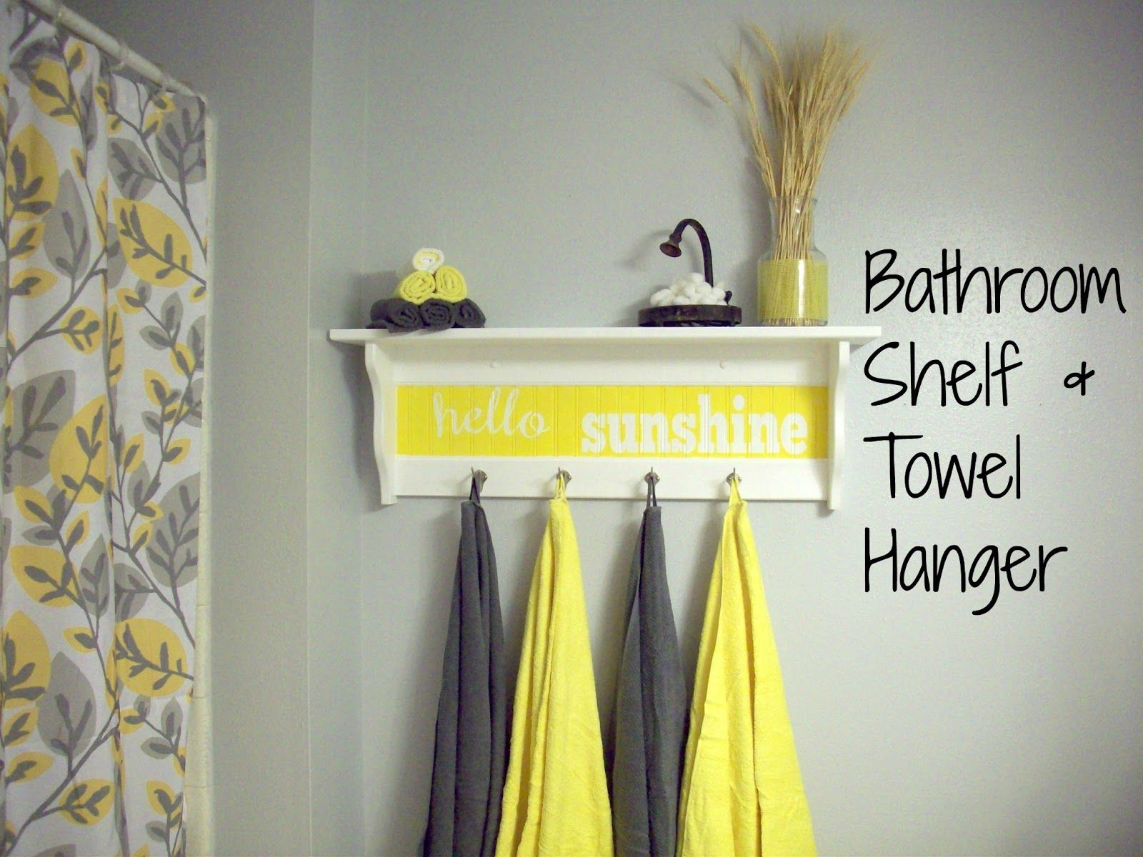 Bathroom Makeover | Grey yellow, Bath and Grey bathrooms