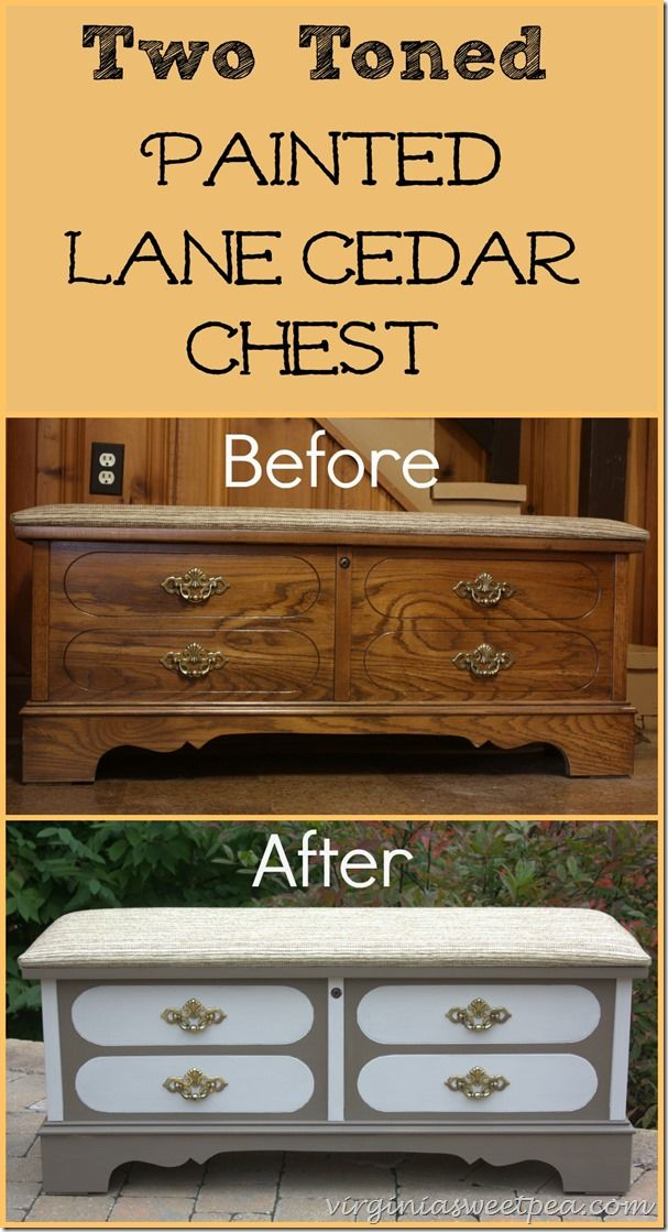 Themed Furniture Makeover Day U2013 Two Tone Lane Cedar Chest