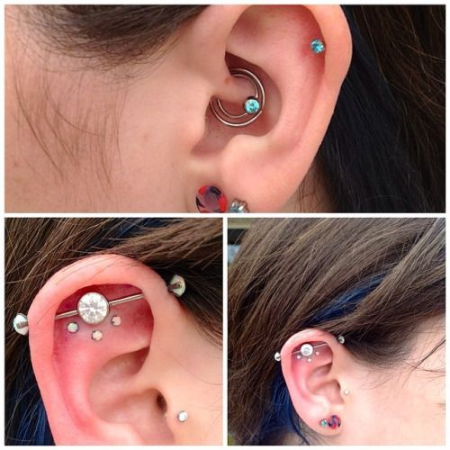 """piercerjaymes: """"This is one of my most awesome clients! The double daith is…"""
