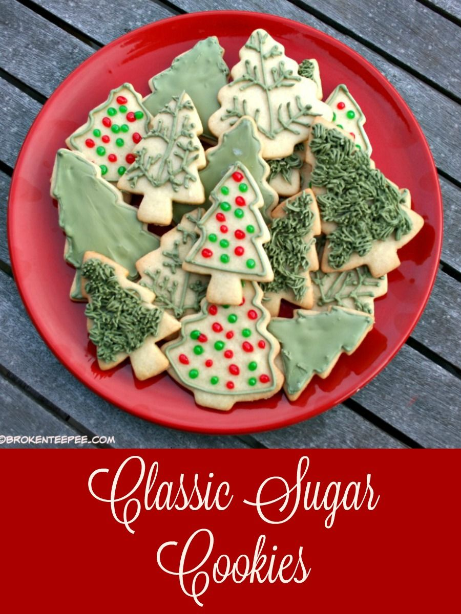 Classic Sugar Cookies Recipe Cookie recipes, Christmas