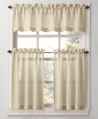 Lichtenberg Leanore Tier Curtain Valance Collection Easy Care Linen Look Valance Curtains Curtains Tier Curtains