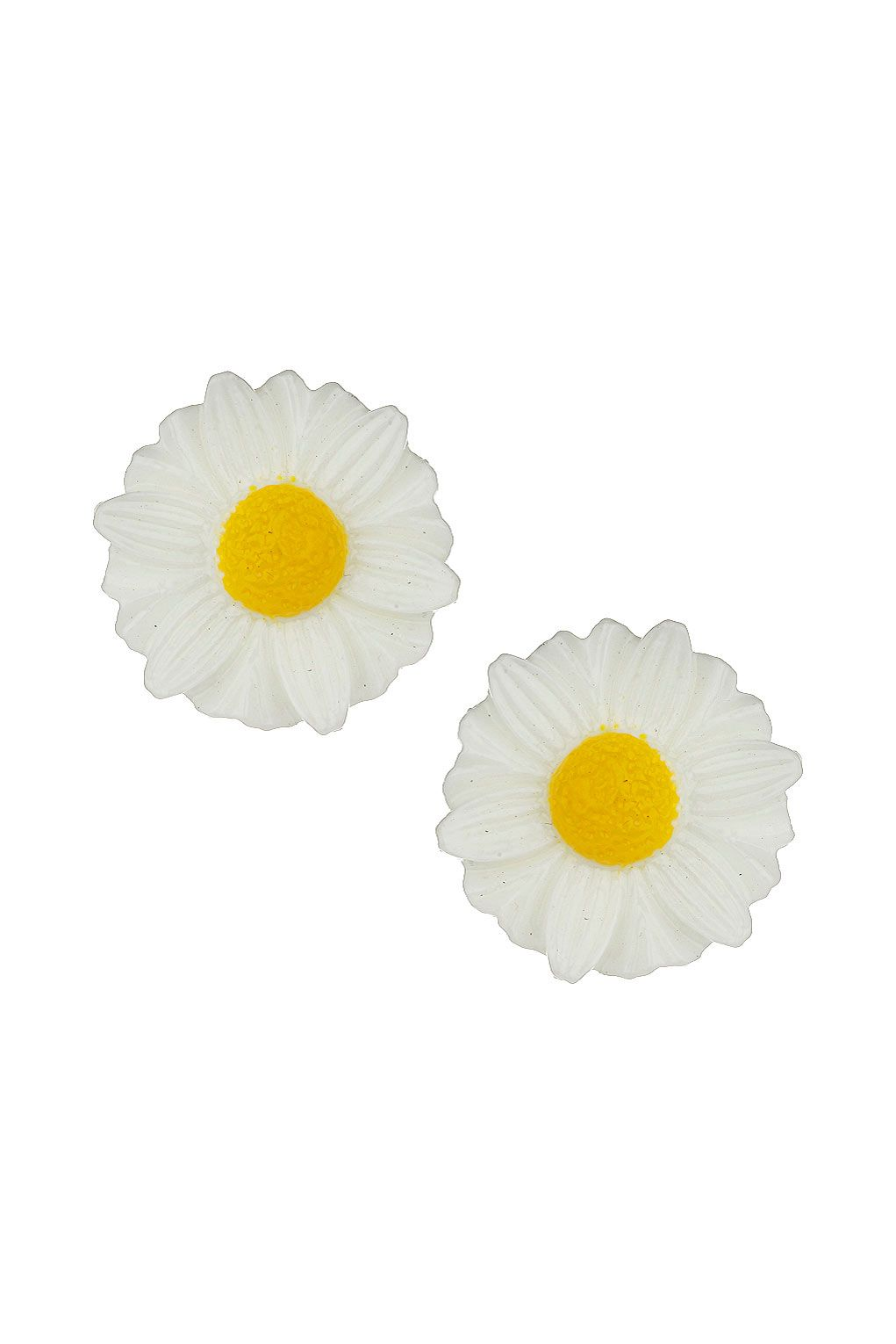 Daisy Stud Earrings - Earrings - Jewellery - Bags & Accessories - Topshop White and yellow coloured plastic daisy studs, length 2cm by Freedom at Topshop