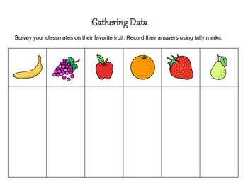 Gathering and Analyzing Data with Tally Marks