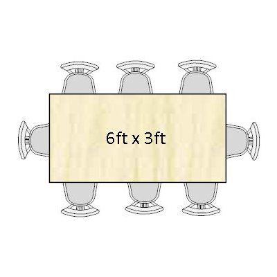 Superieur 6ft X 3ft Banquet Table Seats 6  8