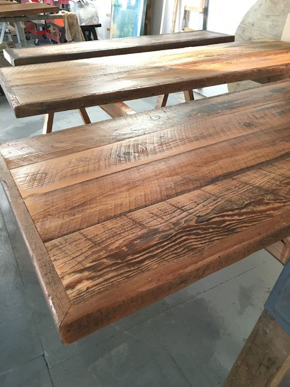 Custom made desk top reclaimed wood natural finish. Chose another finish if  you prefer.