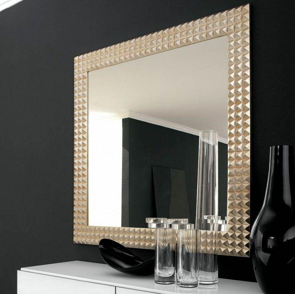 Furnitured Enchanting Unique Big Ellipse Wall Mirror With Cool Frame Beside Black Bottle An Badezimmerspiegel Rahmen Wandspiegel Modern Dekorative Wandspiegel