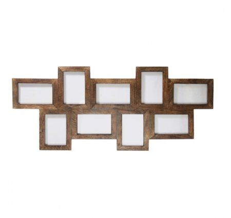 multi frame dark wood effect