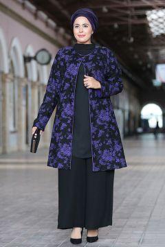 Nesrin Emniyetli Mor Ceket Pantolon Takim Moda Stilleri The Dress Cicekli Elbiseler