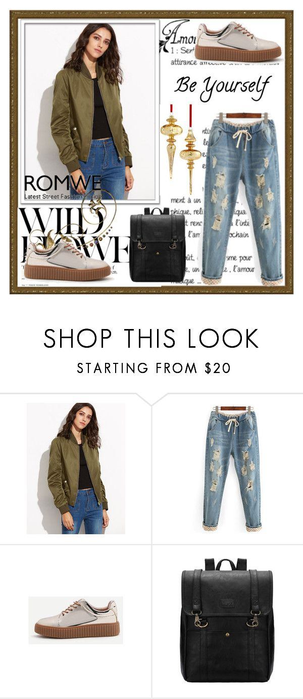 """""""Romwe"""" by loveliest-back ❤ liked on Polyvore featuring Holiday Lane"""