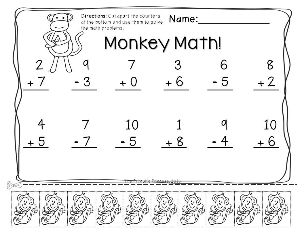 Addition Amp Subtraction Practice Pages With Cut Apart