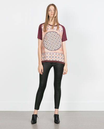 ZARA - WOMAN - PRINTED TOP