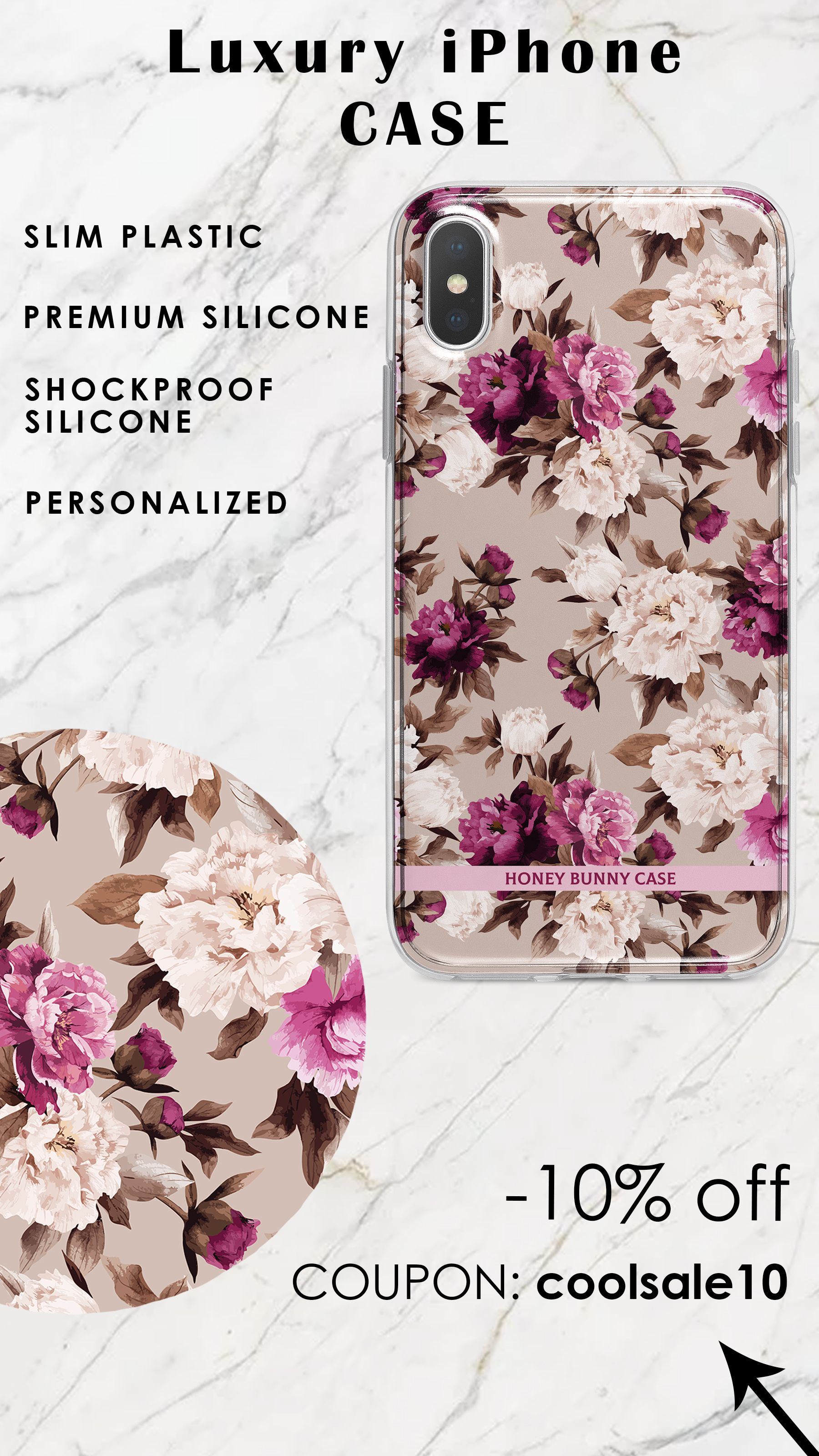 Watercolor Flowers Case For Apple Iphone Xs Vintage Iphone Xs Max