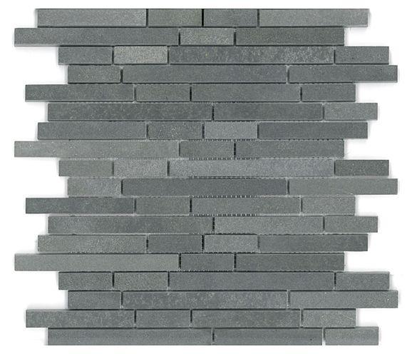 Basalt Mini Linear Mosaic Mesh Mount Sheet Granite Tile