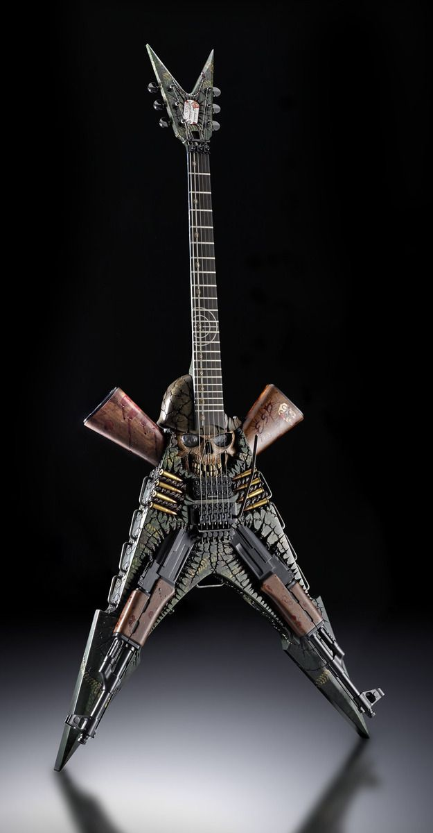 Ghost Soldier Guitar Must Be Painful To Hold Music Pinterest