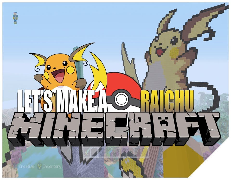 Minecraft Gameplay Lets Play How To Build Pokemon Raichu