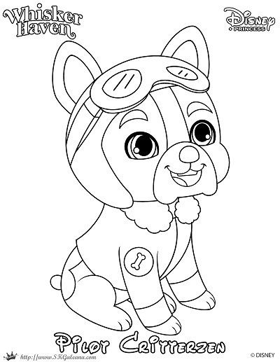 Whisker Haven Tales Coloring Page Of A French Bulldog Pilot