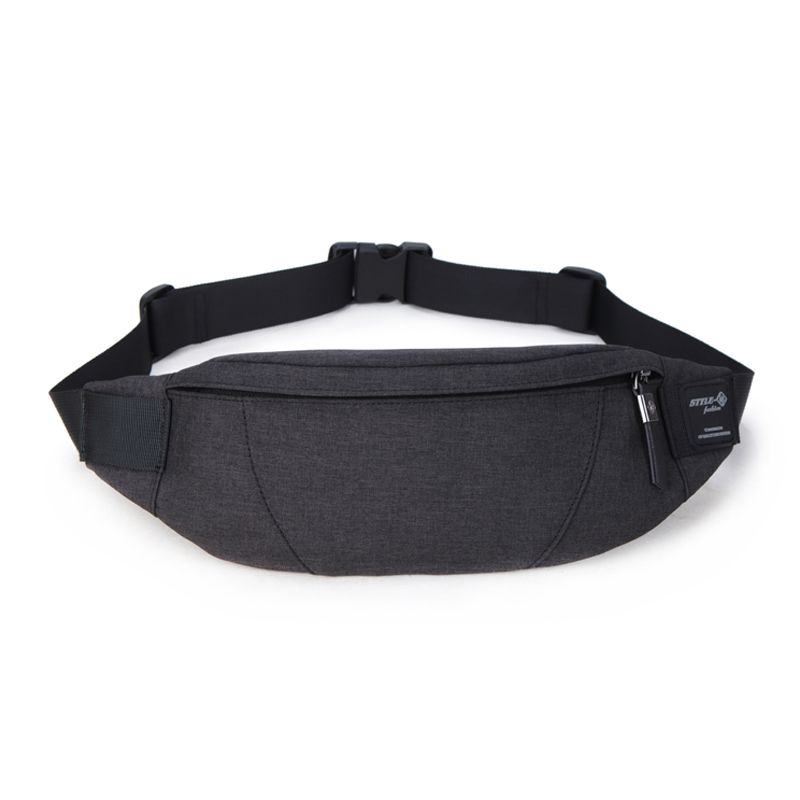 c864167db6cb Hk Fanny Pack Black Waterproof Money Belt Bag Men Purse Teenager's ...