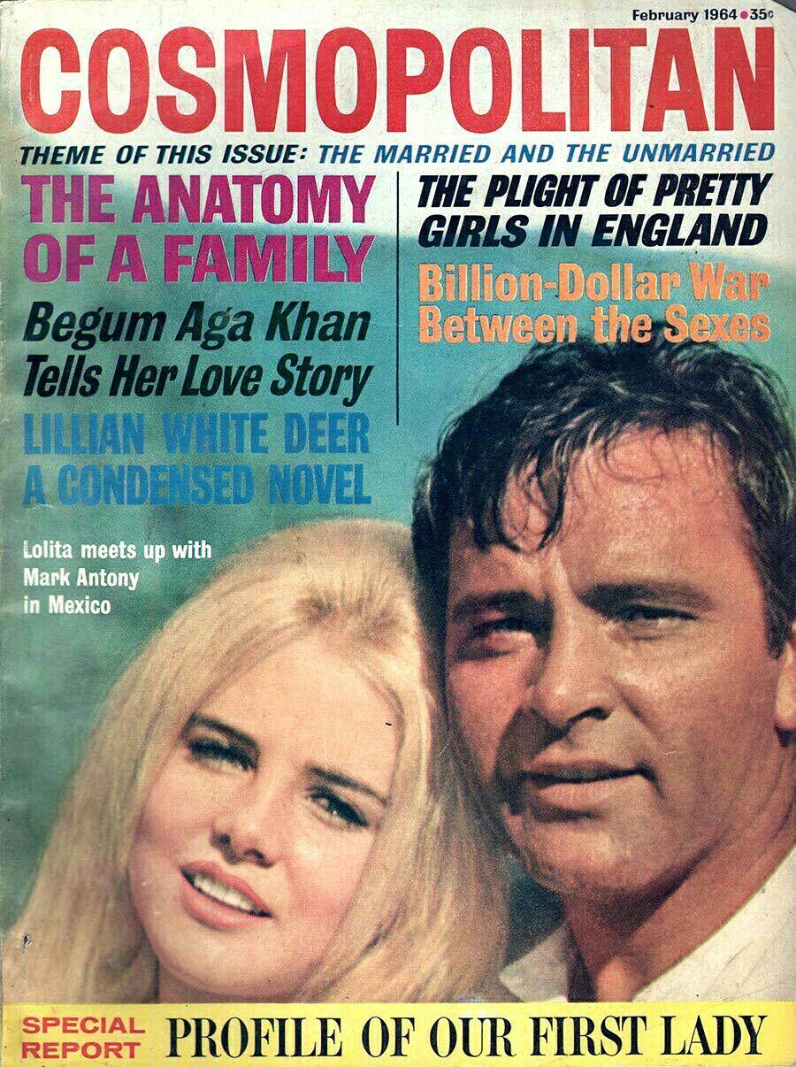 Cosmopolitan magazine, FEBRUARY 1964 Sue Lyon & Richard Burton on ...