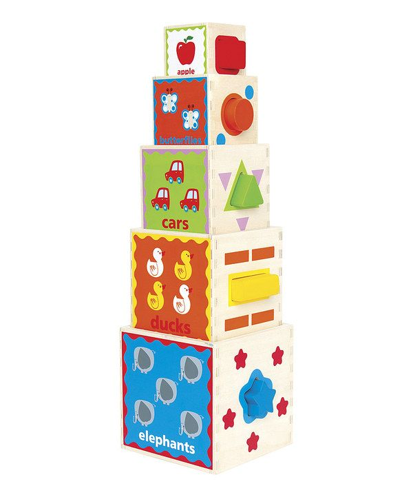 Look at this #zulilyfind! Pyramid of Play Block Set by Hape Toys #zulilyfinds