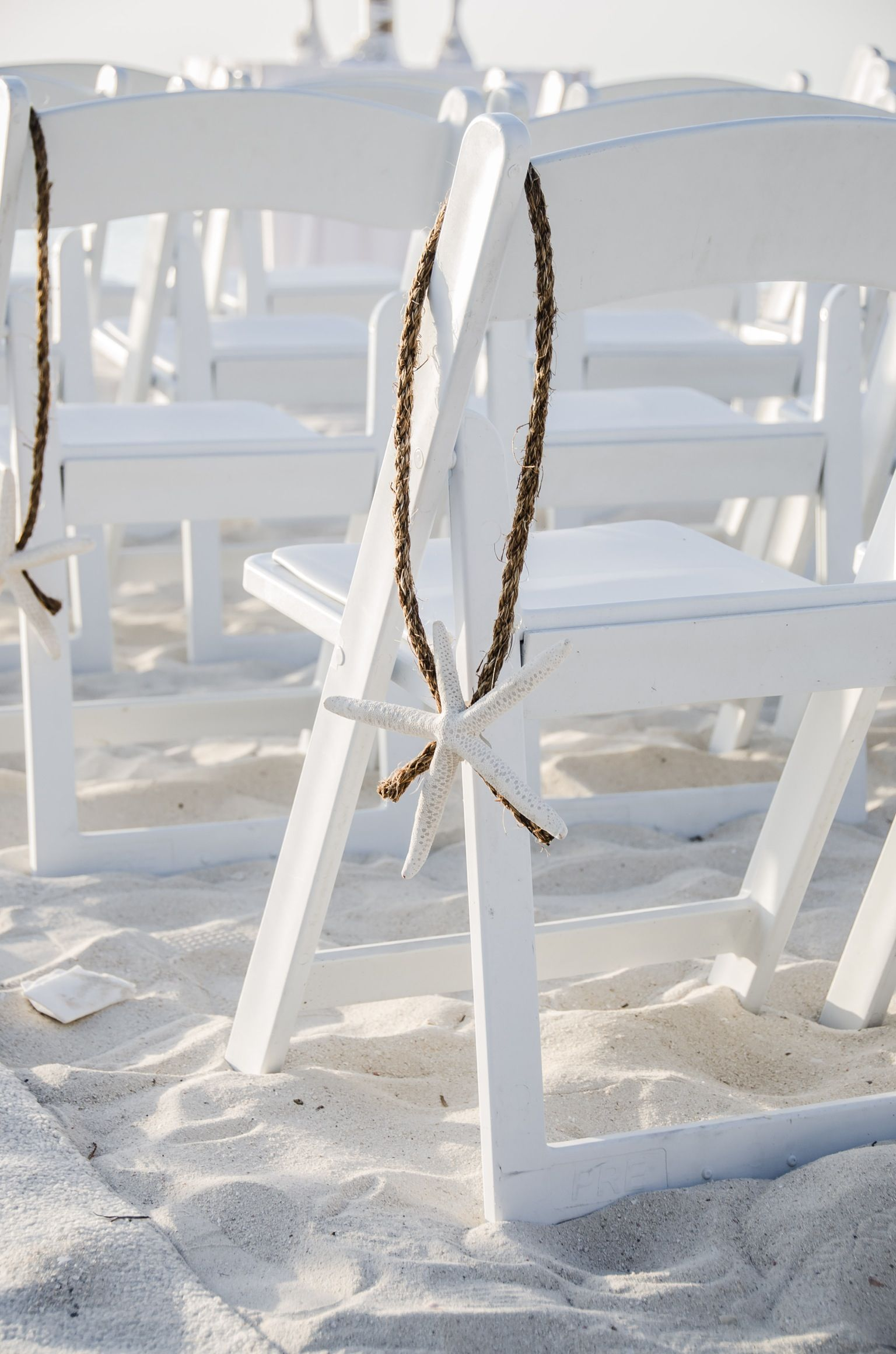 Starfish Wedding Chair Decorations Rocking Chairs For Nursing Haydaywedding Ceremony Decor Beachy 39i