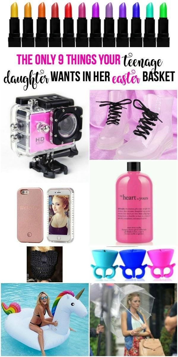 The only 9 things your teenage daughter wants in her easter basket easter basket gift ideas for teenage girls tween girls older girls easter basket ideas negle Images