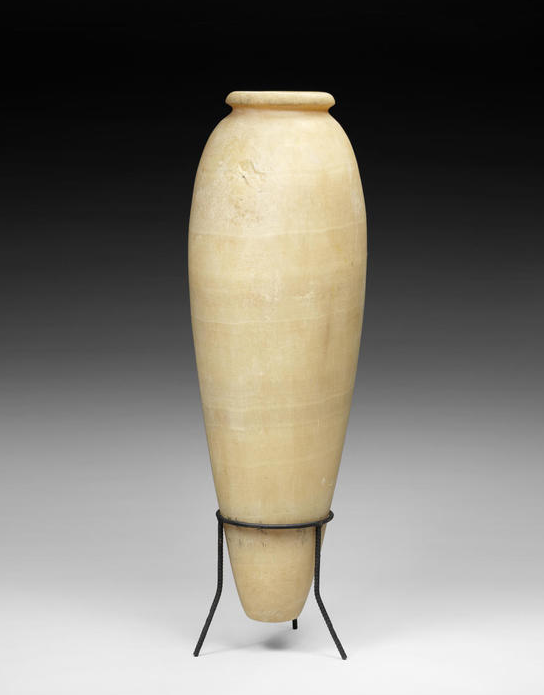 A Large Egyptian Alabaster Vase Early Dynastic Period Circa 3100