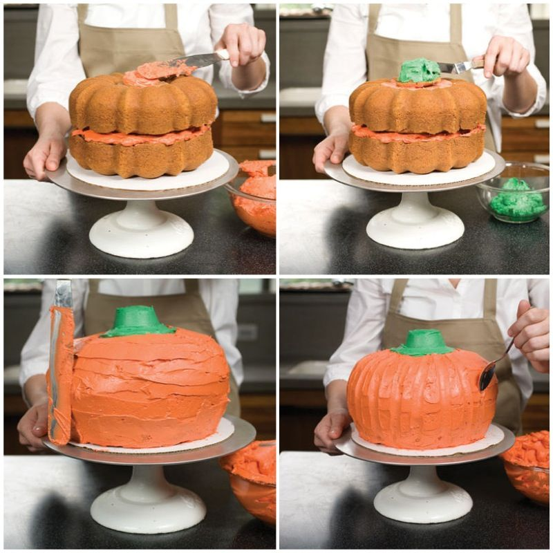 Pumpkin Smash Cake: Fear Not! Putting Together This Eye-poppingly Orange Cake
