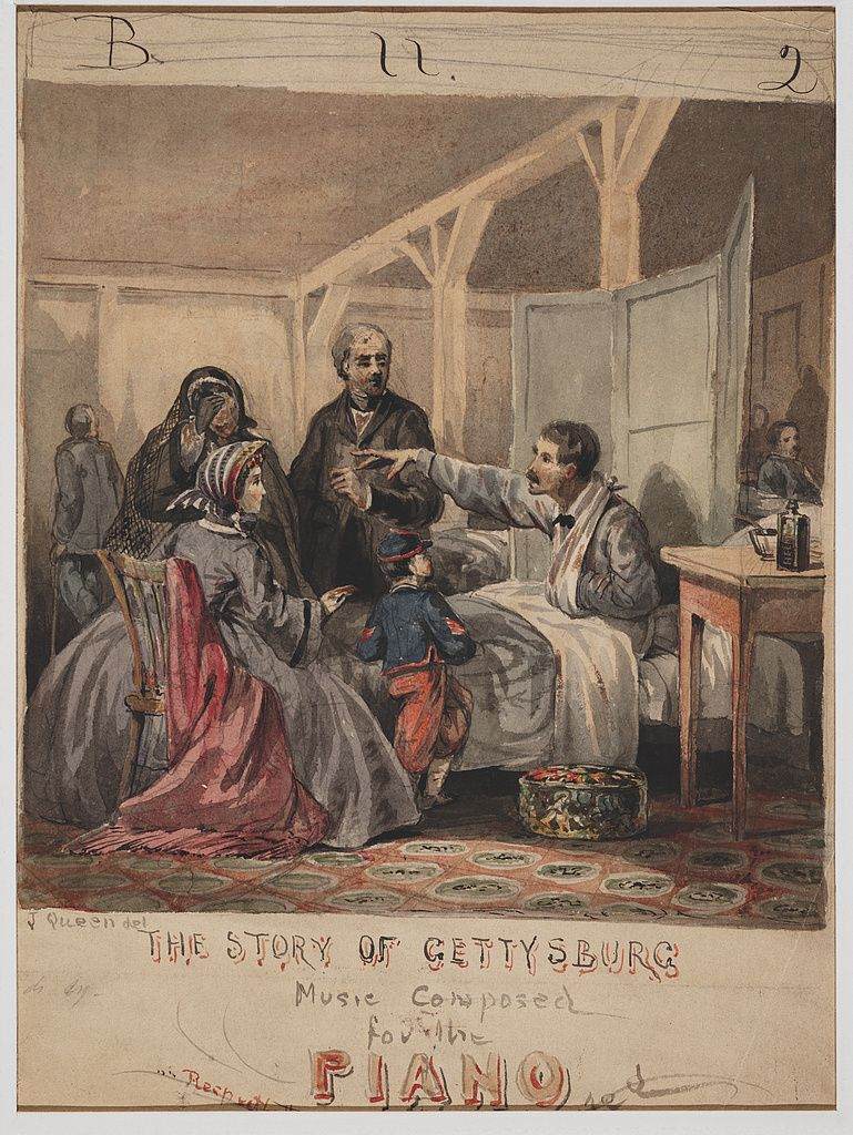 Sheet music cover, the Story of Gettysburg.
