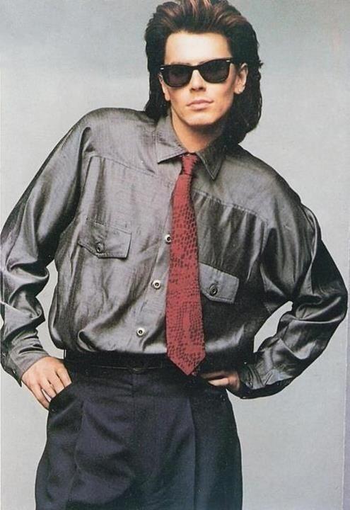80s style dress for men