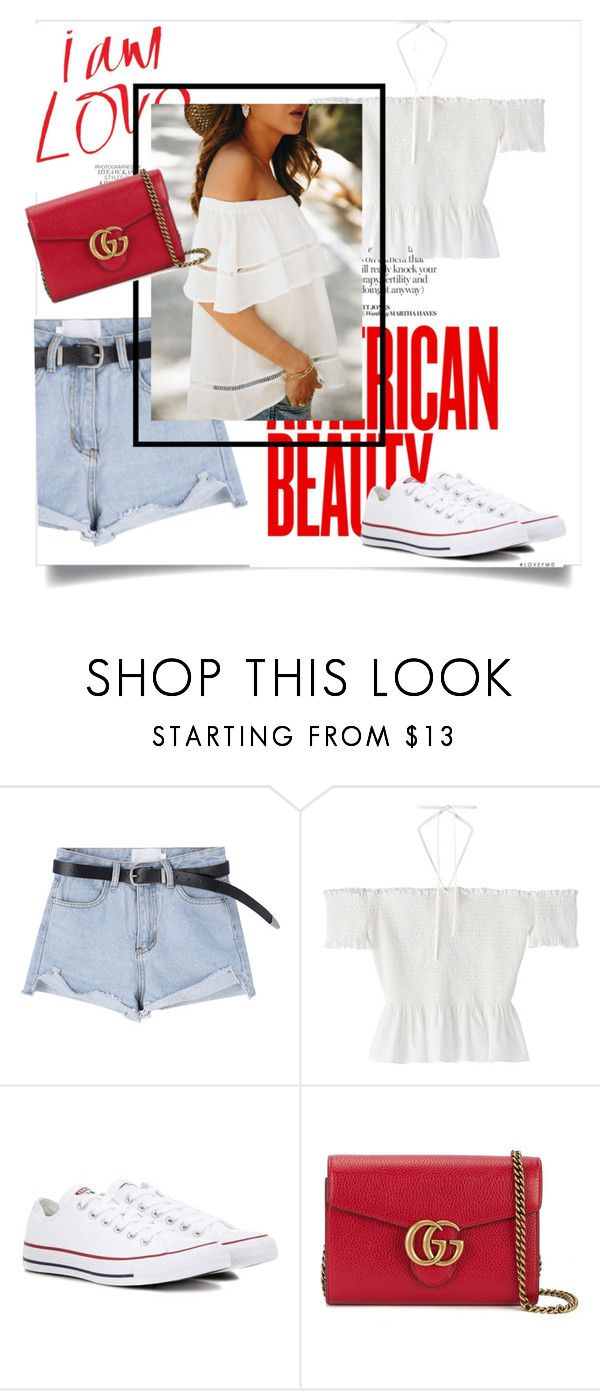 """""""This Time"""" by yourlittlemarie ❤ liked on Polyvore featuring Converse and Gucci"""