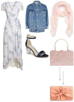 7a880807055 La Femme Lace   Net Ruched Twist Front Gown
