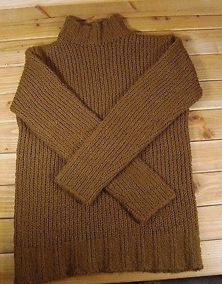 Women St John's Bay Brown Knit Mock Turtleneck Chunky Sweater Large L | eBay