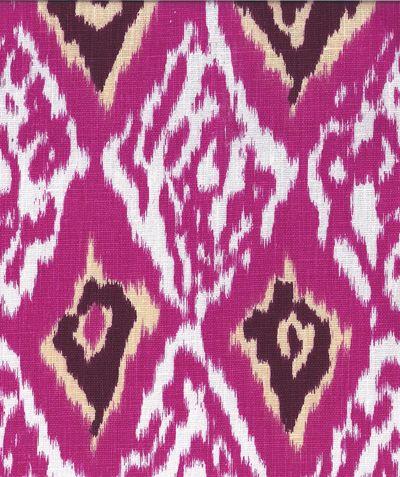 Ashbury Ikat Hot Pink Fabric From Tonic Living Fabric Wallpaper