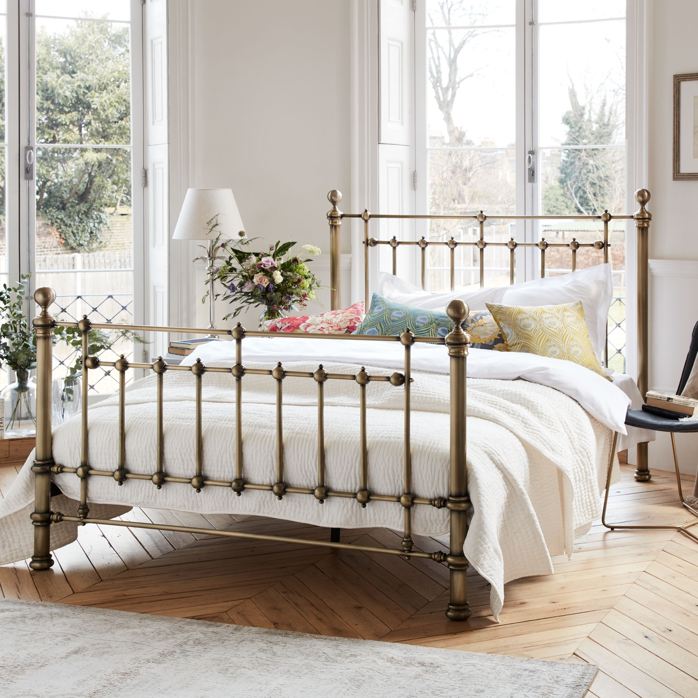 John Lewis Partners Banbury Bed Frame King Size Antique Brass