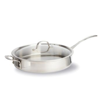 Calphalon Tri Ply Stainless Steel 5 Qt Covered Saute Pan Saute Pan Stainless Steel Band Calphalon Calphalon 5 qt saute pan