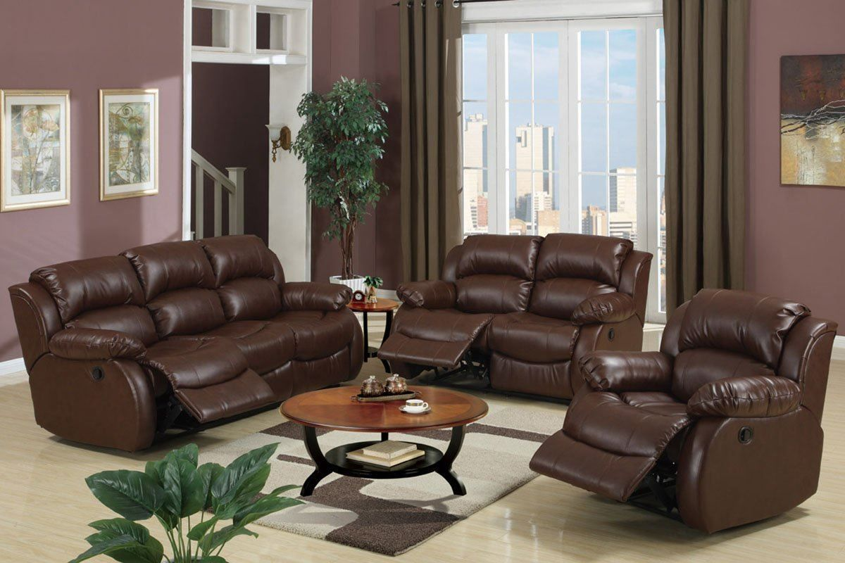 Feeling convenience with soft brown sofa and wooden floor ...