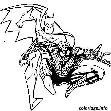 coloriage batman et spiderman dessin | ausmalen, ausmalbilder, bilder