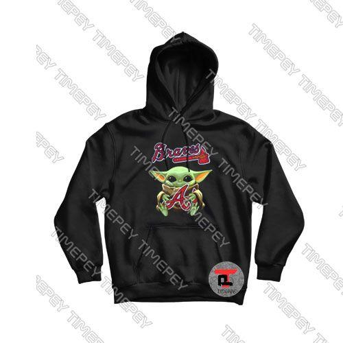 Baby Yoda Hug Atlanta Braves Viral Fashion Hoodie Hoodies Atlanta Braves Shirt Fashion