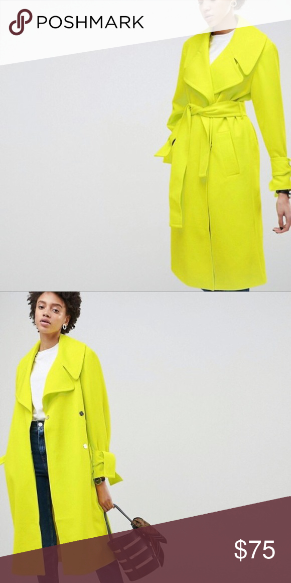 15d8878ebe9 ASOS NEON WRAP TRENCH COAT Brand New With Tags ASOS Jackets   Coats Trench  Coats