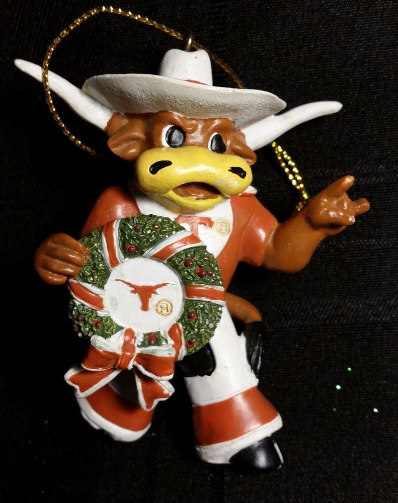 Texas Longhorn Wreath Christmas Ornament Holiday Gift ...