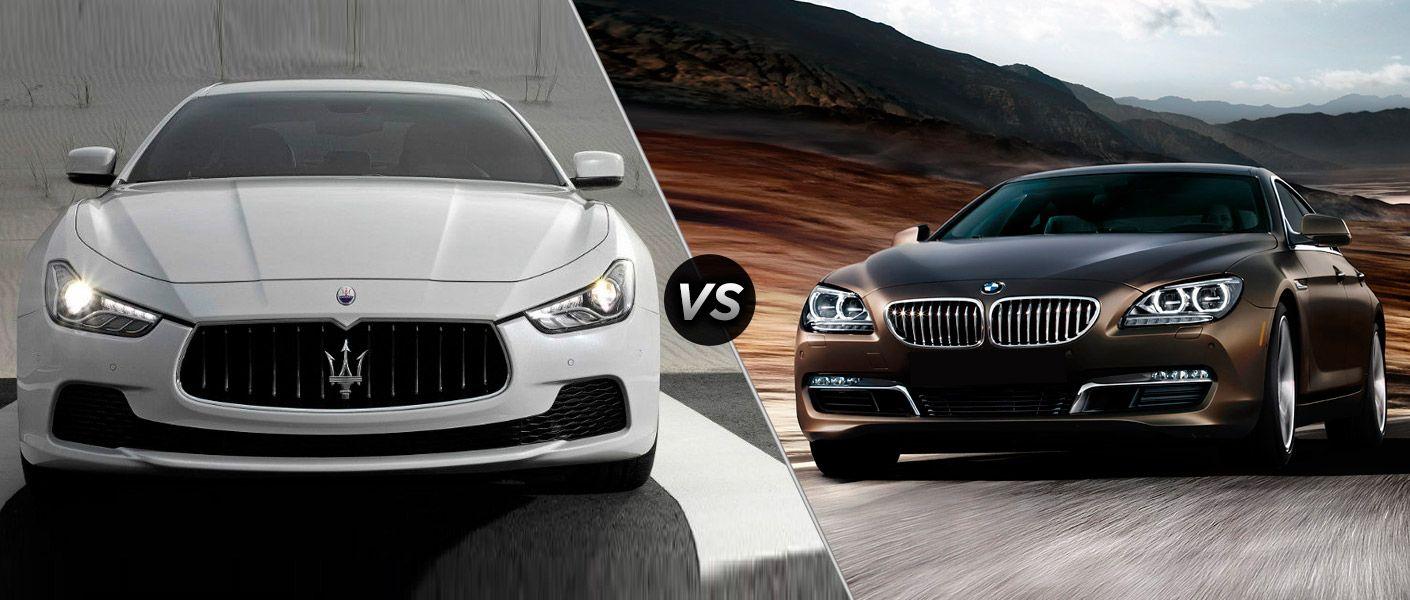 2014 Maserati Ghibli vs. BMW 6 Series