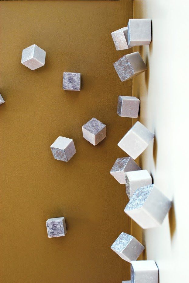 easy diy 3d artwork cubes that simply screw into the wall one side rh pinterest com