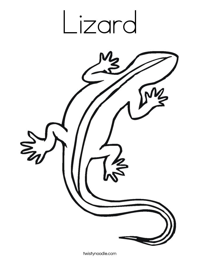 im a lizard coloring page twisty noodle