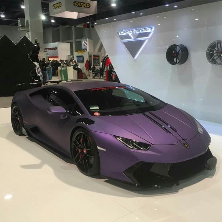 Huracan matt purple sema las vegas 2015 fancy cars