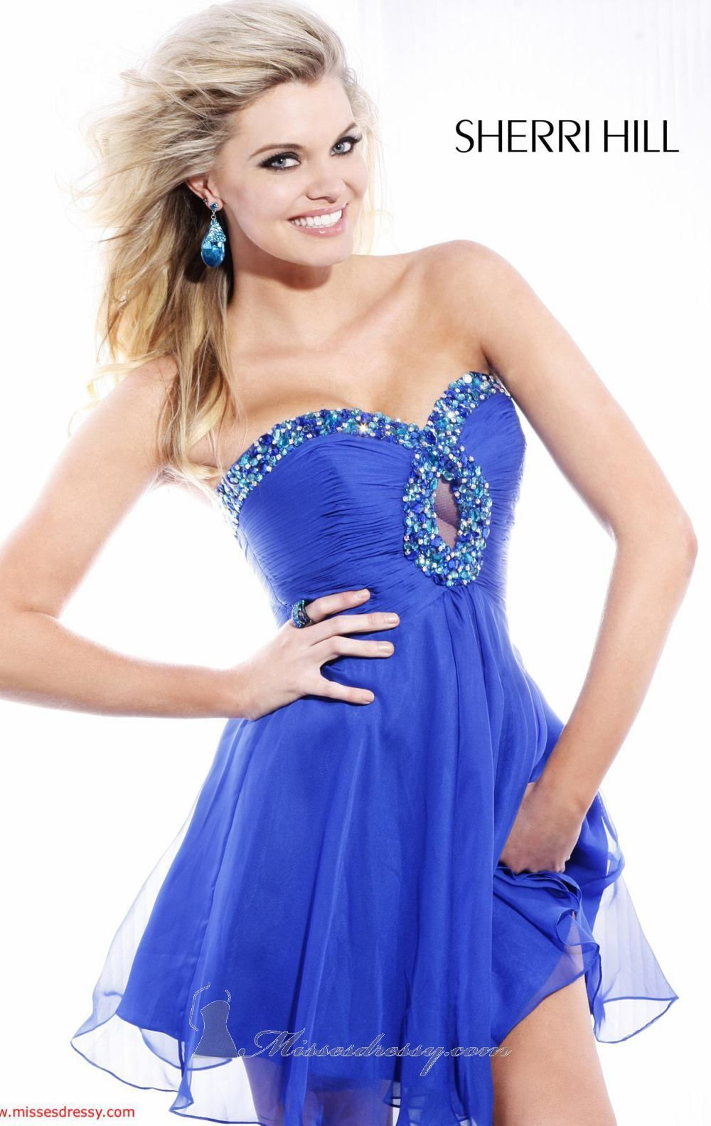 Cocktail dress with keyhole cutout by sherri hill red carpet