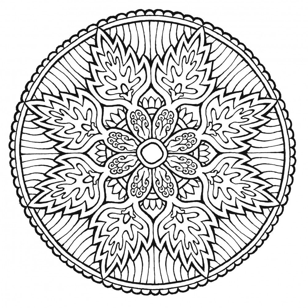 Coloring Pages Mandalas Clever