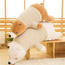 Baby Kids Plush Bear Toy Sleeping Comfort Doll Plush Toy Soft Stuffed Animal Appease Cushion & Pillow Bear Toy Z159 #bearbedpillowdolls